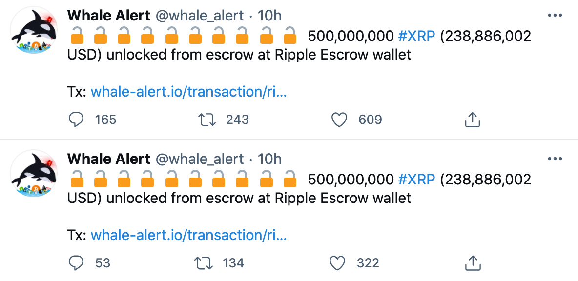 ripple-release-1000000000-xrp-from-escrow-while-bitstamp-and-coinbase-together-have-move-645-million-xrp